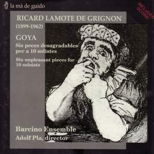 Lamote de Grignon: Goya, etc.
