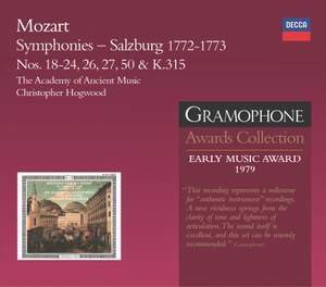 Mozart Symphonies - Salzburg 1772-1773
