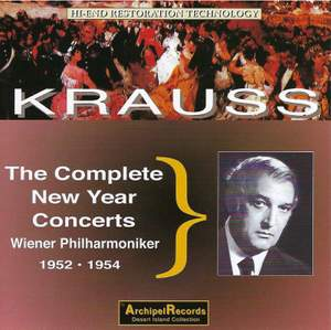 Krauss - The complete New Year concerts 1952-54