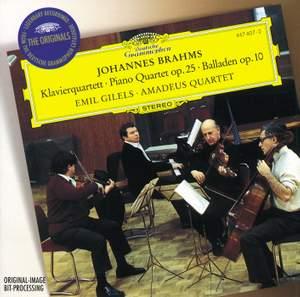 Brahms: Piano Quartet No. 1 & Ballades
