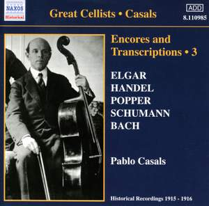 Great Cellists - Casals Product Image