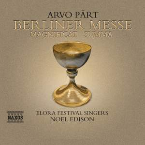 Arvo Pärt - Berliner Messe Product Image