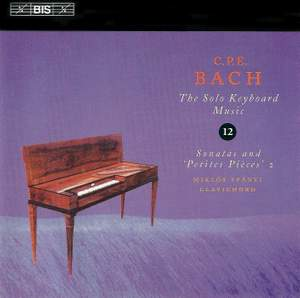C P E Bach - Solo Keyboard Music Volume 12 Product Image