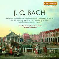 JC Bach: Symphonies in E flat and D