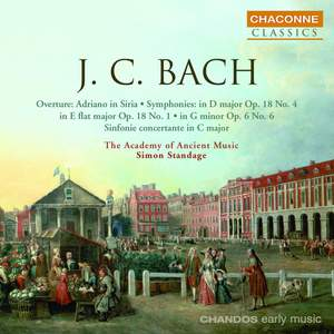 JC Bach: Symphonies in E flat and D Product Image