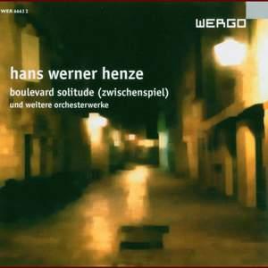 Hans Werner Henze - Boulevard Solitude & other Orchestral Works Product Image