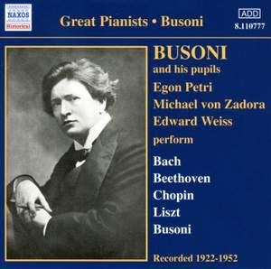 Great Pianists - Busoni