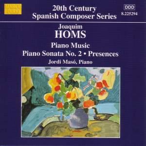 Joaquim Homs: Piano Music