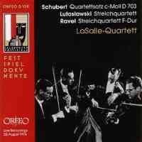 Schubert: String Quartet No. 12 in C minor (fragment), D703 'Quartettsatz', etc.