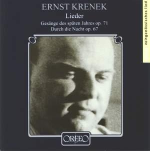 Ernst Krenek - Lieder