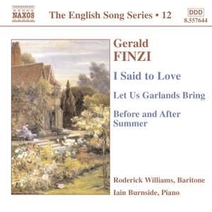 The English Song Series Volume 12 - Finzi 1