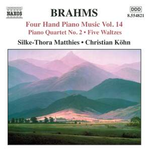 Brahms: Four Hand Piano Music, Volume 14
