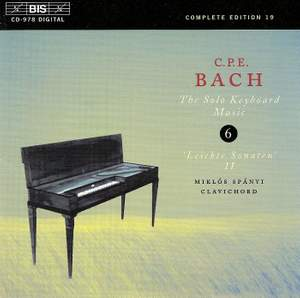 C P E Bach - Solo Keyboard Music Volume 6 Product Image