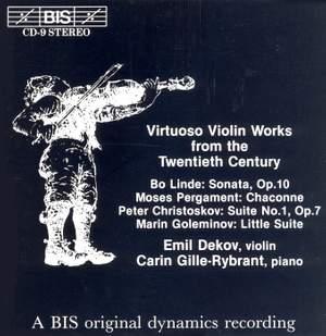 Virtuoso Violin Works from the Twentieth Century