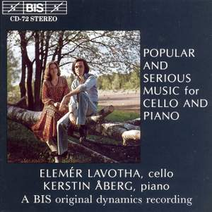Popular and Serious Music for Cello and Piano Product Image