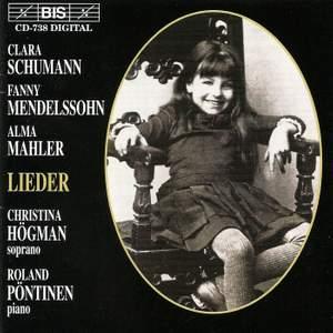 Clara Schumann, Fanny Mendelsohn, Alma Mahler - Lieder Product Image