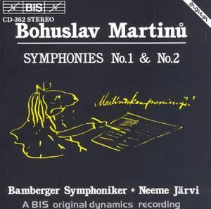 Martinu: Symphonies Nos. 1 & 2 Product Image