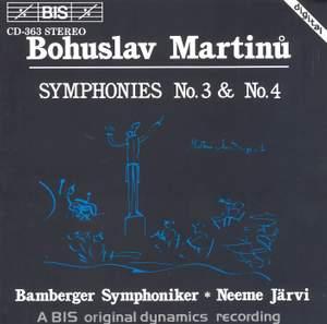 Martinu: Symphonies Nos. 3 & 4