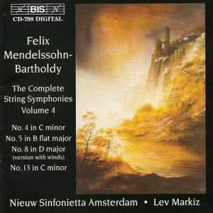 Mendelssohn - Complete String Symphonies, Volume 4 Product Image