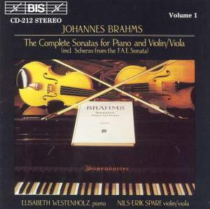 Brahms - The Complete Sonatas for Piano & Violin/Viola, Volume 1