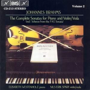 Brahms - The Complete Sonatas for Piano & Violin/Viola, Volume 2