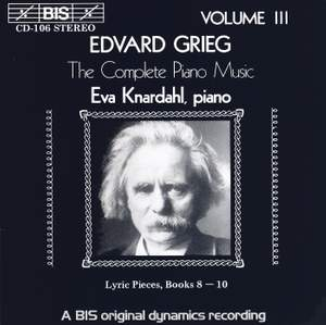 Grieg - The Complete Piano Music, Volume 3