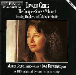 Grieg - The Complete Songs Volume 1