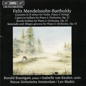 Mendelssohn: Concerto in D minor for Violin, Piano and String Orchestra