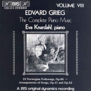 Grieg - The Complete Piano Music, Volume 8