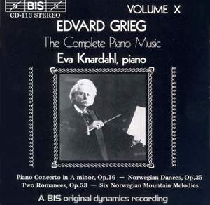 Grieg - The Complete Piano Music, Volume 10