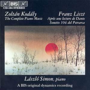 Piano Music by Kodály and Liszt