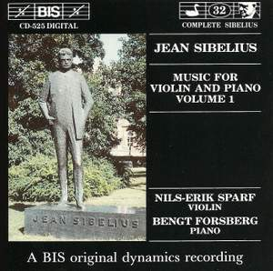 Sibelius - Music for Violin and Piano, Volume 1