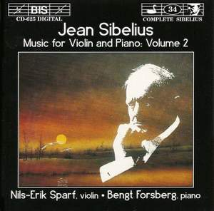 Sibelius - Music for Violin and Piano, Volume 2