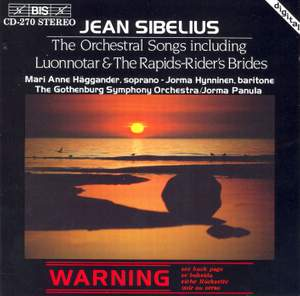 Sibelius - Orchestral Songs Product Image