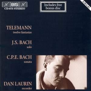 Telemann, J S Bach, C P E Bach - Recorder Music