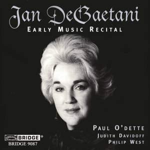 Jan DeGaetani - Early Music Recital
