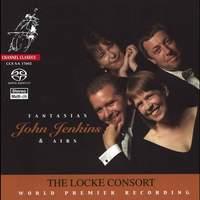 Jenkins, J: 15 Fantasias-Airs for 2 treble viols, bass viol & organ