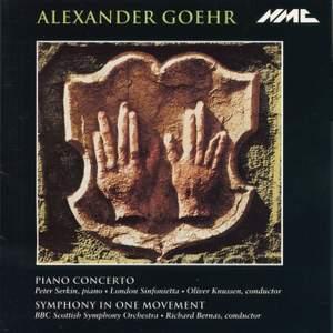 Goehr: Piano Concerto Product Image