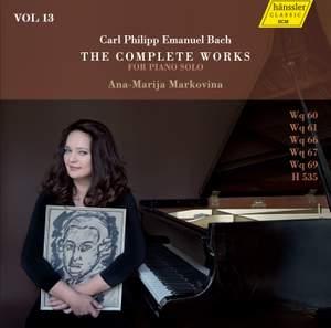 C.P.E. Bach: The Complete Works for Piano Solo, Vol. 13