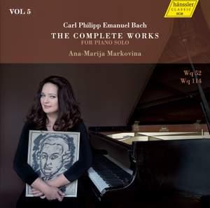 C.P.E. Bach: The Complete Works for Piano Solo, Vol. 5