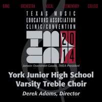 2014 Texas Music Educators Association (TMEA): York Junior High School Varsity Treble Choir [Live]