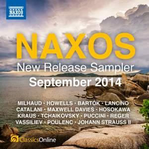 Naxos September 2014 New Release Sampler Product Image