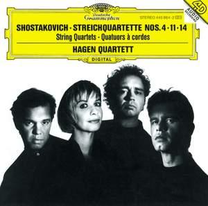 Shostakovich: String Quartets Nos. 4, 11 & 14 Product Image