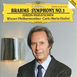 Brahms: Symphony No. 3 & St Anthony Variations