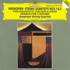 Prokofiev: String Quartets Nos. 1 & 2, Sonata for 2 Violins