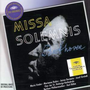 Beethoven: Missa Solemnis & Reger: Variations and Fugue on a Theme by Mozart Product Image