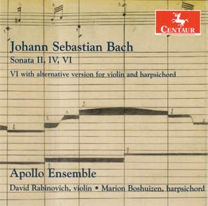 JS Bach: Sonatas for Violin & Harpsichord Product Image