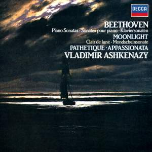 Beethoven: Piano Sonatas 'Moonlight', 'Appassionata' & 'Pathétique' Product Image