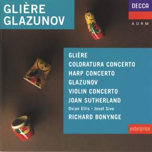 Glière & Glazunov: Concertos Product Image