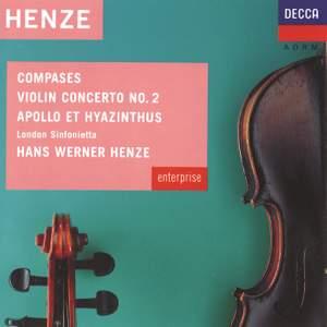 Hans Werner Henze: Compases, Violin Concerto No.2 & Apollo et Hyazinthus